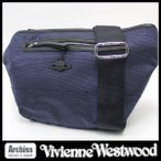ショッピングウエストウッド ヴィヴィアンウエストウッドVivienne Westwood ネイビーシャドウモノグラムオーブ柄大きめボディバッグ メンズ VWB382-30 S54130