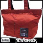 ニューヨーカー NEWYOKER レッドオレンジナイロンカラーズジップトートバッグ 男女兼用 S54246