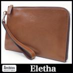 エレザ Eletha クラッチバッグ フリーケース メンズ(男女兼用) キャメル APUDコラボ L字ジップ ストラップ付き S54270