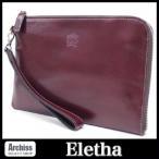 エレザ Eletha クラッチバッグ フリーケース メンズ(男女兼用) ワインレッド APUDコラボ L字ジップ ストラップ付き S54271