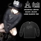【ripdw】 Archrival x RIPDW Limited Long Sleeve Tee  Black on Black  【リップ デザイン ワークス】