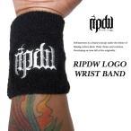 ripdw】 RIPDW LOGO WRIST BAND WHITE ロゴ リストバンド ホワイト 【リップデザインワークス】