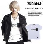 【Zephyren】 POCKET VNECK S/S -Flow WHITE x STAR DOT 【ゼファレン】