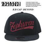 【Zephyren】 B.B CAP -BEYOND- BLACK/BURGUNDY ベースボールキャップ ビヨンド ブラック/バーガンディ 黒 えんじ 【ゼファレン】