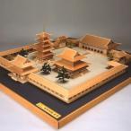 ウッディジョー木製建築模型1/150法隆寺全景[西院釈迦の回廊内を表現]