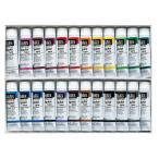 ショッピングアクリル 送料無料 アクリル絵具Liquitex リキテックス レギュラー 24色セット 6号(20ml)チューブ 伝統色 24色セット