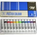 ニッカー 水彩絵具 ポスターカラー 12色セット 11ml 4号