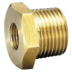 フローバル 黄銅製ねじ込継手 ブッシング 外ネジ×内ネジ(R×Rc)3/4×1/2 GBU-0604-BS