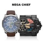 ディーゼル 腕時計 DIESEL メンズ メガチーフ ブラウン ブラック