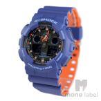 カシオ(CASIO)腕時計 G-SHOCK ジーショック GA-100L-2A メンズ ブルー 箱訳あり 海外モデル