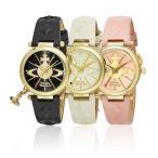 ショッピングVivienne 【並行輸入品】 ヴィヴィアンウエストウッド 腕時計 VIVIENNE WESTWOOD レディース オーブ レザー VV006BKGD VV006WHWH VV006PKPK