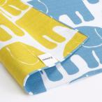 FINLAYSON(フィンレイソン) リバーシブルクロス エレファンティ 105 ブルー×イエロー(Reversible cloth ELEFANTTI 105 blue×yellow)