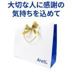 Areti. アレティ ラッピング バック 紙袋 リボン付き p18WH(白) プレゼント ギフト用