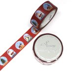 SAIEN スノードーム 15mm マスキングテープ / クリスマス 可愛い 箔押し マステ カミイソ