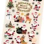クリスマスペーパーシール CMS-522 / サンタ トナカイ 可愛い Christmas 箔押し加工 デコ