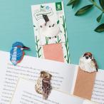 BIRD BOOKMARKER 全4種 / スズメ カワセミ シマエナガ シマフクロウ 刺繍 ブックマーカー 栞 しおり 可愛い 鳥グッズ ギフト HISAGO