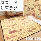 ショッピングい草 い草カーペット スヌーピー ラグ 2畳 170×170