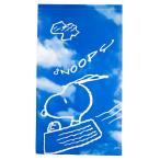 のれん 暖簾 ロング 85×150 スヌーピー キャラクター柄 ブルースカイ おしゃれ 間仕切り ブルー ぽっきり