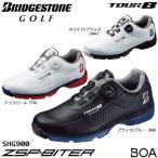 ブリヂストンスポーツ ゴルフシューズ TOUR B ZSP-BITER SHG900 26.5cm 黒 青 スパイクレス 防水 3E