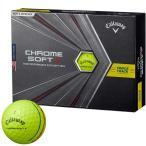 2020年モデル  キャロウェイ CHROME SOFT X TRIPLE TRACK クロム ソフト エックス トリプルトラック ゴルフボール 1ダース 12球入り  イエロー