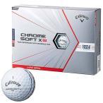 2021年モデル キャロウェイ CHROME SOFT X LS TRIPLE TRACK クロム ソフト エックス ロースピン トリプルトラック ゴルフボール 1ダース(12球入り) ホワイト