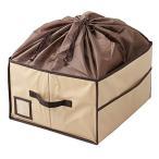 (まとめ)ワイズコーポレーション 除湿&消臭カバン収納ボックス ベージュ 8100522〔×2〕