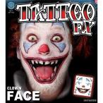 ショッピングコスチューム ハロウィン | コスプレ衣装/コスチューム Tinsley Transfers Clown Face タトゥーシール