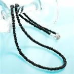 ショッピングネックレス ネックレス・ペンダント | ブラックスピネルネックレス 42cm
