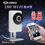 Glanshield(グランシールド)家庭用 ベビーカメラ 防犯カメラ ワイヤレス180°Wi-Fiカメラ Dive-y180 ダイビー180