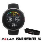 POLAR(ポラール) ランニングウォッチ H10心拍センサー付モデル 軽量プレミアム マルチスポーツウォッチ Polar Vantage V2 HR ブラック 90082711