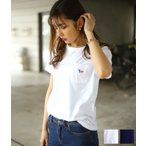 MAISON KITSUNE [ メゾンキツネ ] / 【レディース】PERM TEE SHIRT TRICOLOR FOX PATCH /全2色(Tシャツ カットソー パレロワイヤル)KWM2800
