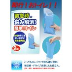コンパクトな携帯トイレです。簡単ミニトイレ