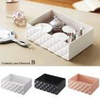 コスメボックス 化粧品 メイク道具 収納 コスメケース ダイヤB ホワイト/ブラック/ピンク