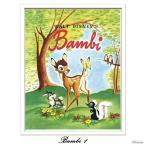 ポスター インテリア おしゃれ ヴィンテージ ディズニー Disney カフェ ビンテージ クラシカル Bambi 1