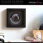 置時計 デザイナーズ アナログ 掛け時計 スイープムーブメント 北欧 ウォールクロック 128191 Clever Clocks アローズ S
