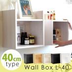 ウォールシェルフ 壁掛け 棚 キッチン コーナーラック 可動棚 スパイスラック おしゃれ Wall Box L-40