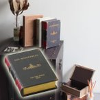 小物入れ アンティーク レトロ調 おしゃれ ブック型 本型 収納ボックス GD-5651 Book storage box ブックストレージボックス