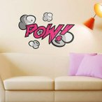 壁 ステッカー ウォール 漫画 おしゃれ 壁面装飾 Comic Book Wall Stickers POW!
