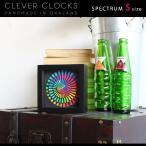 置時計 デザイナーズ アナログ 掛け時計 スイープムーブメント 北欧 ウォールクロック 128195 Clever Clocks スペクトラム S