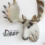 壁掛け オブジェ 剥製風 シカ 鹿 動物 アニマル ウォール ディスプレイ Deer
