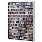 CDラック 大型 DVDラック 大容量 収納 ホワイト 白 CD最大1668枚収納