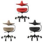 オフィスチェア パソコンチェア 肘付き デザインチェア 赤 キャスター 椅子 デスクチェア デザイナーズ 牛皮 WOORIDUL CHAIR iPole7