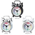 目覚まし時計 おしゃれ 置き時計 PUCHI プチ テーブルクロック ブラック/クロム/ホワイト CL-4658