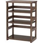 プリンター台 オープンラック 木製 デスクサイド シェルフ オフィス家具 おしゃれ 棚 ラック 幅50