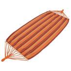 ショッピングハンモック ハンモック オレンジ ストライプ アウトドア キャンプ レジャー ガーデン 用品 LHM-4073