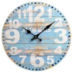 ウォールクロック ラウンド ビーチ 西海岸インテリア マリン ハワイアン サーフ アンティーク風 wall clock 壁掛け時計 掛け時計 掛時計 時計 壁掛け 壁飾り