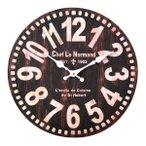 Yahoo!AromDeeウォールクロック ラウンド ショコラ ブルックリンスタイル 男前インテリア アンティーク風 wall clock 壁掛け時計 掛け時計 掛時計 時計 壁掛け 壁飾り