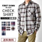 送料無料 リサイクルコットン チェック柄 ネルシャツ 長袖シャツ メンズ 通販M《M2》