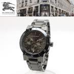 【安心2年保証・サイズ調整無料】バーバリー BURBERRY 男性用 腕時計 BU9381 CITY シティ クロノグラフ 42mm ダークグレー チェック柄 ガンメタル