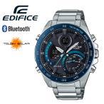 EDIFICE エディフィス カシオ スマートウォッチ Bluetooth CASIO EDIFICE タフソーラー ECB-900DB-1B ブラック ブルー クロノグラフ カレンダー ステンレス